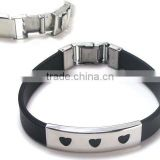 sell rubber/ leather bracelets gift