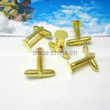 8mm Gold Plated Pad Blank Cufflink Base For Glass Cabochon