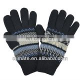 Acrylic Knitted glove,Male classic acrylic knitted gloves semi-finger gloves