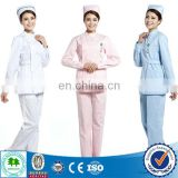 Inexpensive staff nurse uniform / nurse uniform printed / nurse uniform white dress with good quality