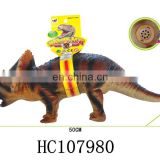 B/O Educational rubber 3D simulation dinosaur model for kids