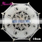 A0154-10cm White Color Wholesale Battenburg Lace Parasol Kis Umbrella