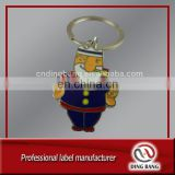 Experienced Factory Promotion Cheap Custom Made Embossed Logo Smoking Bear Style 2D Funny Souvenir Keychain