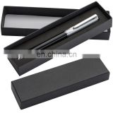 heavy twist black barrel and silver parts metal ball pen with gift box RB17094