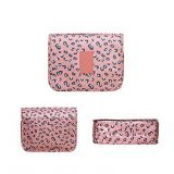 full printed cosmetic bag portable makeup pouch waterproof travel organizer