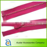 Single Row Rhinestone zippers Wholesale