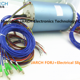 JARCH 8 Channels FORJ / Fiber Optic Rotary Joint + 36 circuits Electrical slip ring in ROV Technical