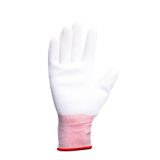 white shell white PU coated gloves