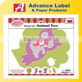 For Kids Child Plastic Drawing Painting Jumbo Animal Tree Animal shaped Stencil Set