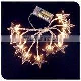10LED star christmas lights battery operated powered