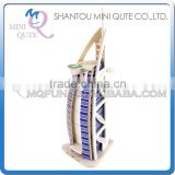 Mini Qute 3D Wooden Puzzle Burj Al Arab Hotel world architecture famous building Adult kids model educational toys gift NO.MJ207