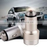 Multi-function aluminum alloy Safety Hammer micro usb car charger