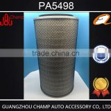 China factory production auto parts hepa Baldwin air filter for excavator PA5498 hot sale