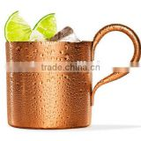 CCBM-313 16oz (500ml) Aluminum Beer Mug beer tumbler moscow mule mugs with champagne solid copper color surface (Accept OEM)