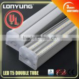 CRI 80 led lamp t5 fixtures with big light angle 120cm 180cm ul dimmable led tube t5 4ft