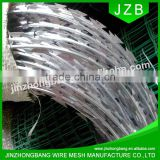 JZB-gauge 12*14 galvanized barbed wire price per roll /roll price fence razor barbed wire