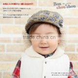 Japanese wholesale products cute and high quality fashion baby hunting boa caps made in japan 2way