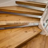 Triangle shape natural oak stair tread board