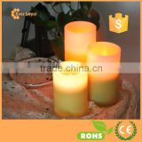 Home Decoration Multicolor LED Candles with Remote Control and Timer Set of 3 Votive Candles