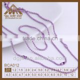 fashion ball chain necklace color