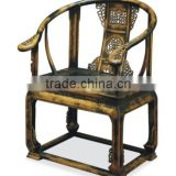 Wholesale antique solid wood hand carved black arm chair                                                                         Quality Choice