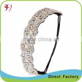 New Handmade Rhinestone Crystal Bohemia Stylish Crystal Beaded Elastic Headband Image