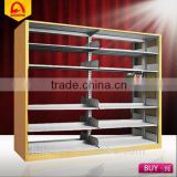 lastest design library steel book shelf school metal book rack for sale