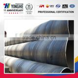 China supplier high quality q235 SSAW carbon steel spiral welded pipe gas and oiled pipe
