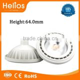 FoshanHelios High thermal conductive plastic housing COB led G53 base and ar111 gu10 ar111 led dimmable