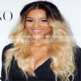 Fashion New Brazilian Loose Wavy Ombre Two Tone Color Front Lace Wigs