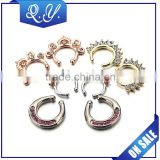 Nose Piercing Rings Jewelry Custom Cartilage Piercing Stainless steel Septum crystal nose rings