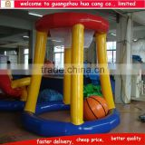 Amusement water park game inflatable water basketball hoop