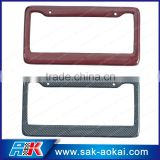 custom carbon fiber auto license plate frame eurpoean