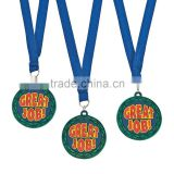 Hot Sale Custom Made Sports Event Plastic 3D Design Soft PVC Award Rubber Great Job Medals with Ribbon for Promotional Gifts