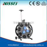 S350LKS steel cable reel with Ip44 3 Sockets Cable Drum retractable mini retractable cable reel cable reel