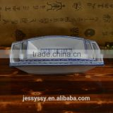 Chaozhou Ceramic Happiness Rectangular boat Bowl Salad Chef In Dish