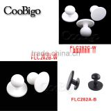 Plastic Round Movable Jacket Chef Coat Stud Button Black or White #FLC282A-B/B-W/C-W