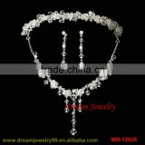 fashion indian pearl fancy necklace sets handmade bridal jewelry sets with tiaras necklaces and earrings