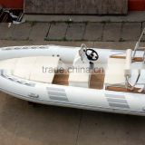 Double layer fiberglass hull Rigid Inflatable Boat with Hypalon tube, CE certificated 4.8m RIB boat RIB480