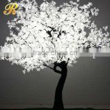 Snow-white plum blossom led tree garden use
