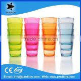 Popular nightclub promo plastic disposable neon colored shot glass cup
