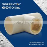 grey pvc pipe fittings/reducing tee high brightness ppr tube fitting high pressure female fitting tee