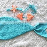 handmade crochet baby mermaid tail costume photo props
