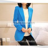 New Fashion Winter Women Slim Blazer Coat Casual Jackets Long Sleeve V-Neck One Button Suit Outerwear