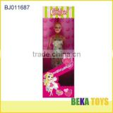 sexy dress fashion girl doll hot selling doll with beautiful cloth