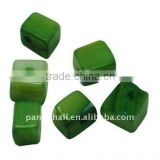 Sea Shell Beads, Dyed, Green, about 8~9x7~8x5~7mm, hole: 2mm, about 570pcs/500g(BSHE-S001-6)