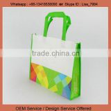 Promotion bags usage customised printed full color non-woven shopping bag