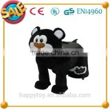 HI CE high quality funny cartoon plush animal electric riding horse scooter motor toy for kids
