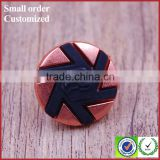 Designer red black craft jean jacket metal buttons