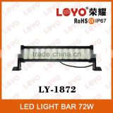 Special model Epsitar led light bar, Led light bars for trucks, 72W offroad led bar light